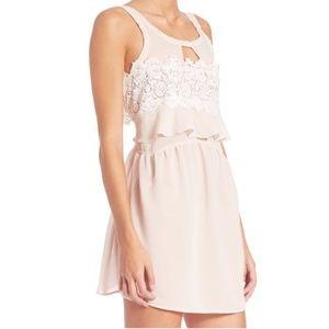 For Love & Lemons Sienna Mini Dress Dusty Rose NWT